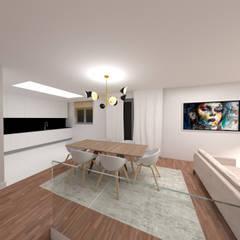 MHouse Salas de jantar minimalistas por IAM Interiores Minimalista