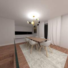 Sala comum: Salas de jantar  por IAM Interiores