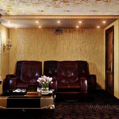 Домашний кинозал: Медиа комнаты в . Автор – студия Design3F