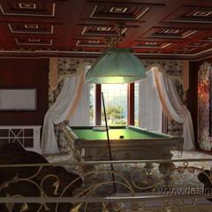 Бильярдная в восточном стиле: Гостиная в . Автор – студия Design3F