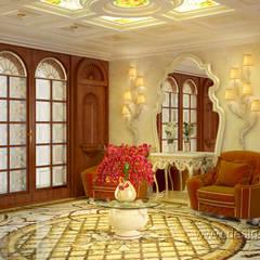 Роскошный холл в восточном стиле: Коридор и прихожая в . Автор – студия Design3F