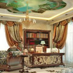 Интерьер кабинета в восточном стиле: Рабочие кабинеты в . Автор – студия Design3F,
