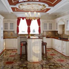 Большая кухня в восточном стиле: Кухни в . Автор – студия Design3F