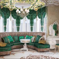 Восточный стиль в интерьере комнаты: Гостиная в . Автор – студия Design3F
