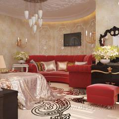 Большая спальня в восточном стиле: Спальни в . Автор – студия Design3F, Азиатский