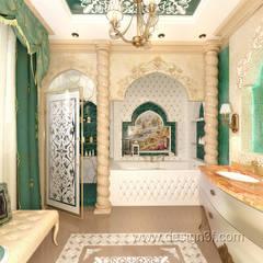 Красивая ванная в восточном стиле: Ванные комнаты в . Автор – студия Design3F,
