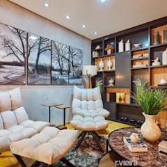 Espaço para Leitura: Salas de estar escandinavas por STUDIO 405 - ARQUITETURA & INTERIORES
