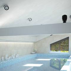 Бассейн в уютном доме недалеко от Москвы: Бассейн в . Автор – TOL architects