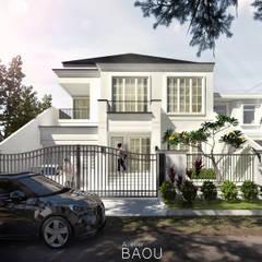Casas unifamiliares de estilo  por Atelier BAOU+