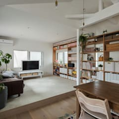 Suita house renovation: ALTS DESIGN OFFICEが手掛けたリビングです。