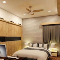 Interior: rustic Bedroom by Decor Architects