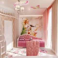 Студия дизайна Татьяны Лазурнойが手掛けた子供部屋