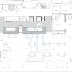 pianta arredata: Bar & Club in stile  di Maranco Architetti