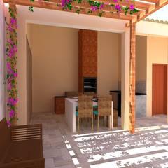 Garajes y galpones de estilo  por Priscyla Targino Arquitetura e Interiores