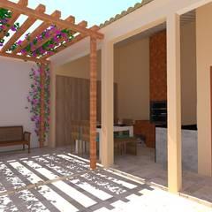Garage/shed by Priscyla Targino Arquitetura e Interiores