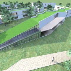 COLEGIO AZAPA VALLEY SCHOOL-ARICA: Parcelas de agrado de estilo  por AOG, Moderno Concreto