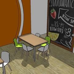 Escuela : Comedores de estilo moderno por Fire Design AR