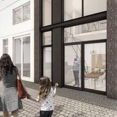 PETROLEUMHAVEN KAVEL WONING | DEN HAAG 2018:  Passiefhuis door Studio Kustlijn Architecten , Modern Steen