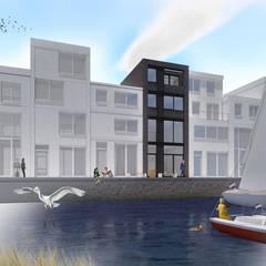 PETROLEUMHAVEN KAVEL WONING | DEN HAAG 2018:  Rijtjeshuis door Studio Kustlijn Architecten