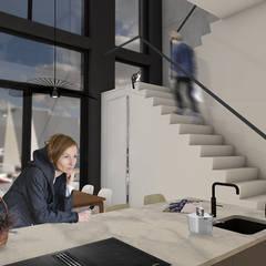 PETROLEUMHAVEN KAVEL WONING   DEN HAAG 2018:  Eetkamer door Studio Kustlijn Architecten