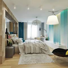 С мечтами о море: Спальни в . Автор – Студия дизайна Татьяны Лазурной