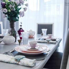 dom pod poznaniem_kw: styl , w kategorii Jadalnia zaprojektowany przez Szalbierz Design
