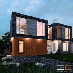 Residencia RL [León, Gto.]: Casas unifamiliares de estilo  por 3C Arquitectos S.A. de C.V.