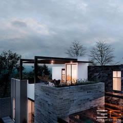 Residencia RL_03: Casas unifamiliares de estilo  por 3C Arquitectos S.A. de C.V.