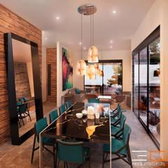 Residencia RL [León, Gto.]: Comedores de estilo  por 3C Arquitectos S.A. de C.V.