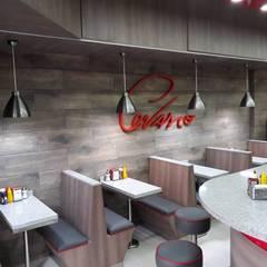 Restaurant Cevasco Av Valparaiso: Restaurantes de estilo  por isabella cocinas