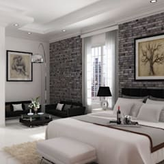 vista 1: Habitaciones de estilo moderno por A.BORNACELLI
