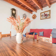 House completely restored in Dalt Vila:  Living room by ibizatophouse