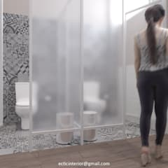 Female Office Toilet:  Kamar Mandi by Ectic