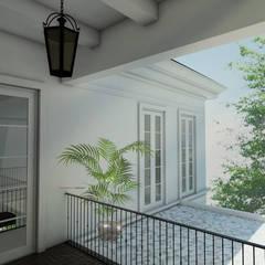 Light Classic: Koridor dan lorong oleh AIGI Architect + Associates,