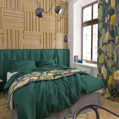 Mieszkanie / zieleń + róż + kwiaty: styl , w kategorii Małe sypialnie zaprojektowany przez Moble.,Eklektyczny