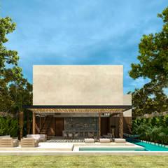 CASA GUARUMA, TULUM QUINTANA ROO, MEXICO.: Casas unifamiliares de estilo  por Obed Clemente Arquitecto