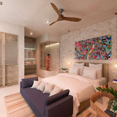 tropical Bedroom by Obed Clemente Arquitecto
