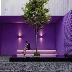 CASA G - GUADALAJARA JALISCO, MEXICO.: Pasillos y recibidores de estilo  por Obed Clemente Arquitecto