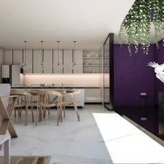 CASA G - GUADALAJARA JALISCO, MEXICO.: Comedores de estilo minimalista por Obed Clemente Arquitecto