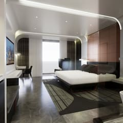 5 Star Hotel Deluxe Room:  Hotels by TheeAe Architects