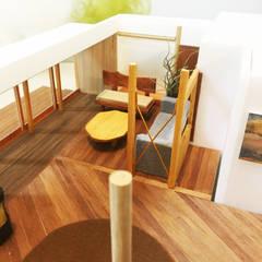 リビングを上から俯瞰。: 鎌倉住宅設計事務所 邸宅巣箱が手掛けたリビングです。