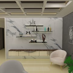 Residence Interiors: rustic Living room by URBAIN DEZIN STUDIO