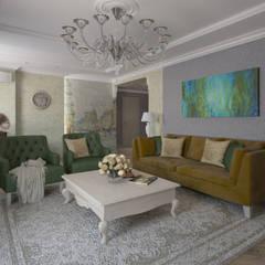 """Квартира, вдохновленная квартирами """"Ван Гога"""": Гостиная в . Автор – Alt дизайн"""