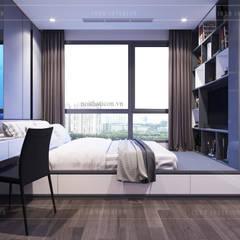 Phối hợp phong cách Tân cổ điển và Đương đại trong nội thất căn hộ:  Phòng ngủ by ICON INTERIOR,