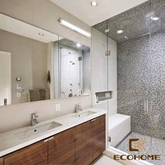 Khu vực vệ sinh:  Phòng tắm by Công Ty TNHH Xây Dựng & Nội Thất ECO Việt Nam