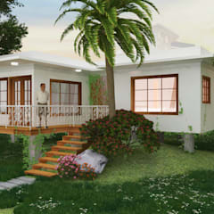 Vievienda Palafafito : Jardines de piedra de estilo  por A.BORNACELLI, Tropical