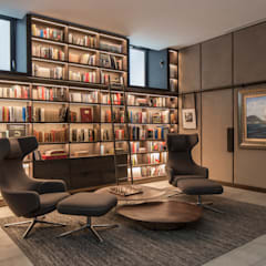 modern Media room by Roselind Wilson Design