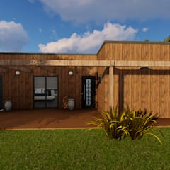 Projekty,  Dom z drewna zaprojektowane przez Discovercasa | Casas de Madeira & Modulares