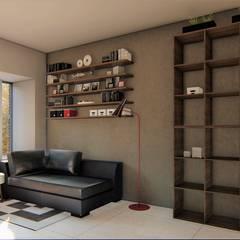 casa bioclimatica: Livings de estilo minimalista por steel