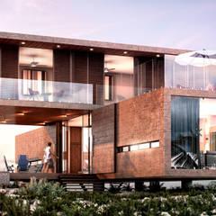 Vista desde la playa: Villas de estilo  por Grupo Arquidecture